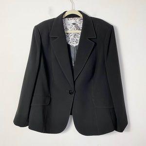 Tahari women's black single button blazer jacket